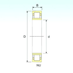 17 mm x 40 mm x 16 mm  ISB NU 2203 cylindrical roller bearings