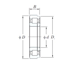 70 mm x 125 mm x 31 mm  KOYO NUP2214R cylindrical roller bearings