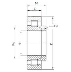 70 mm x 125 mm x 31 mm  ISO NH2214 cylindrical roller bearings