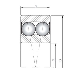70 mm x 125 mm x 31 mm  Loyal 2214-2RS self aligning ball bearings