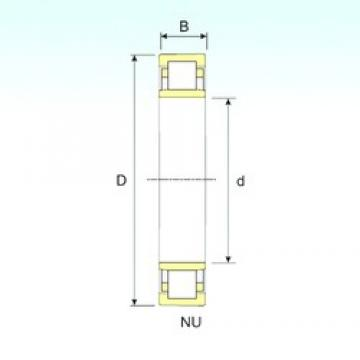 100 mm x 180 mm x 46 mm  ISB NU 2220 cylindrical roller bearings