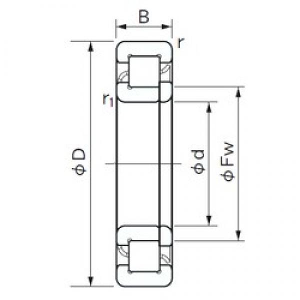 100 mm x 180 mm x 46 mm  NACHI NUP 2220 E cylindrical roller bearings #1 image