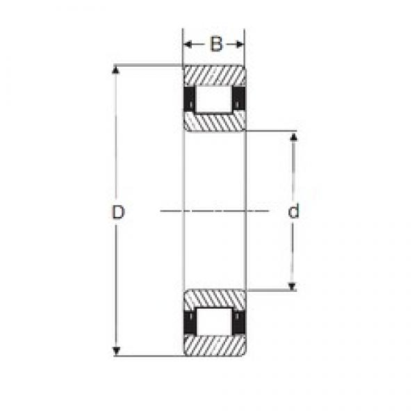 100 mm x 180 mm x 46 mm  SIGMA N 2220 cylindrical roller bearings #1 image
